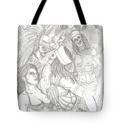 Aztec Warriors With Female Tote Bag