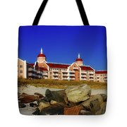 Azure And Coral Tote Bag