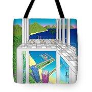 Azure Bay Tote Bag