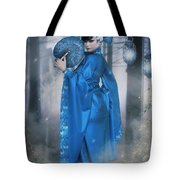 Azure Empress Tote Bag