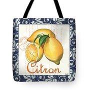Azure Lemon 2 Tote Bag by Debbie DeWitt