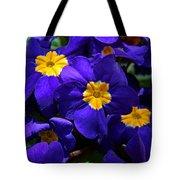 Azure Primrose Tote Bag