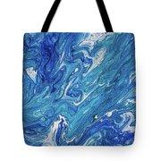 Azure Transfusions Of Ocean Waves Fragment  Tote Bag