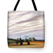 B-17 Aluminum Overcast - Bomber - Cantrell Field Tote Bag