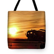 B 17 At Sunset Tote Bag