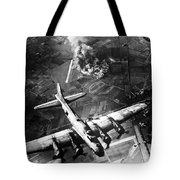 B-17 Bomber Over Germany  Tote Bag by War Is Hell Store
