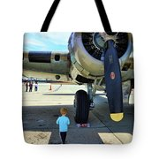 B-17 Engine Aircraft Wwii Tote Bag