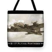 B-17 Flying Fortress Show Print Tote Bag