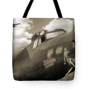 B - 17 Memphis Belle Tote Bag by Mike McGlothlen