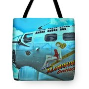 B-17 Aluminum Overcast Pin-up Tote Bag