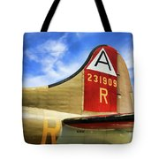 B-17 Tail Wwii Tote Bag