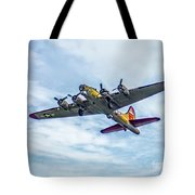 B-17g Flying Fortress In Flight  Tote Bag