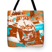 B-25 Blue Brown Tote Bag