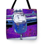 B-25 Blue Purple Tote Bag