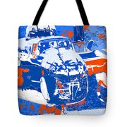 B-25 Blue Red  Tote Bag