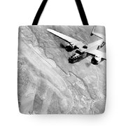 B-25 Bomber Over Germany Tote Bag
