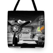 B-25 Mitchell Infrared Tote Bag