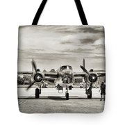 B-25j Mitchell Wwii Aircraft Tote Bag