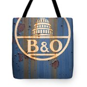B And O Railroad Rail Car Signage Tote Bag