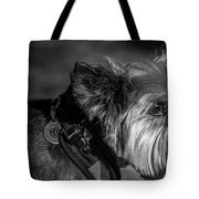 B And W Dog Tote Bag