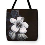 B And W Hibiscus Tote Bag