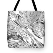 B And W Rendition Of-orion's Belt Vortex  Tote Bag