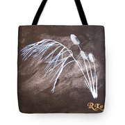 B And W Wild Grass Tote Bag