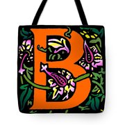 B In Orange Tote Bag