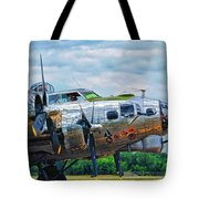 B17 Bomber Side View Tote Bag