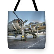B17 Flying Fortress On The Ramp At Livermore Tote Bag