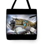 B17 Nine-o-nine Nose Art V2 Tote Bag