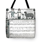 Baa Baa Black Sheep Antique Music Score Tote Bag