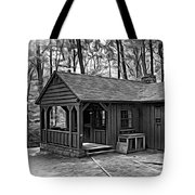 Babcock State Park Cabin - Paint Bw Tote Bag