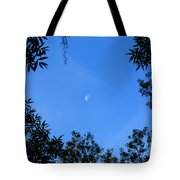 Babcock Wilderness Ranch - Daytime Moon Over Babcock Tote Bag
