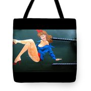 Babe On Wwii Bomber The Show Me Tote Bag