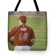 Babe Ruf Tote Bag by Trish Tritz