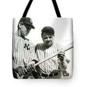 Babe Ruth And Lou Gehrig Tote Bag