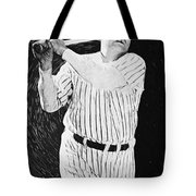 Babe Ruth Tote Bag