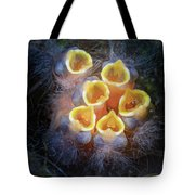 Baby Birds Open Mouths Tote Bag