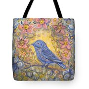 Baby Blue Bird Garden Tote Bag