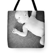 Baby Boy Black And White Tote Bag