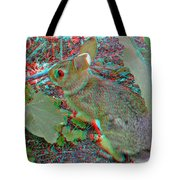 Baby Bunny - Use Red-cyan 3d Glasses Tote Bag
