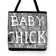 Baby Chicks Bw Tote Bag