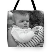 Baby Content On Mom's Shoulder Tote Bag