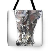 Baby Elephant Study Tote Bag