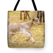 Baby Goat On The Run Tote Bag
