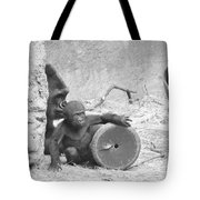 Baby Gorilla And Mom Tote Bag