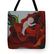 Baby In A Rose Tote Bag