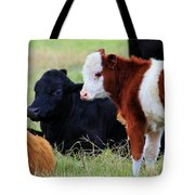 Baby Of The Herd Tote Bag