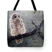 Baby Owl Tote Bag